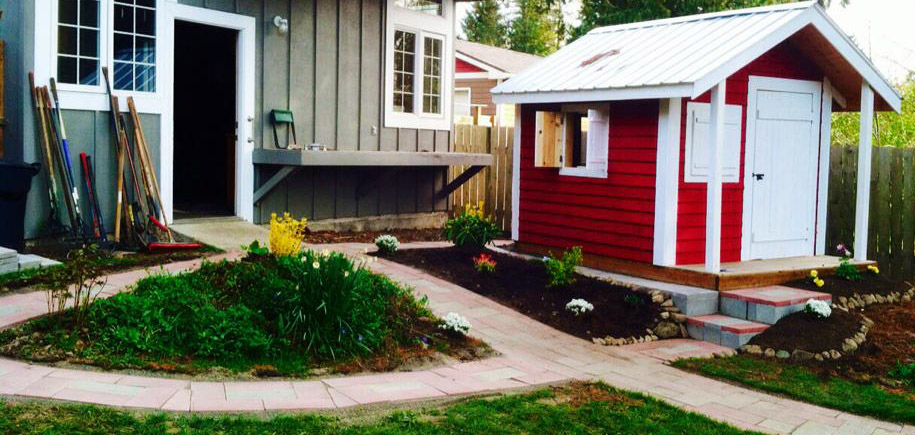Backyard Makeover and Playhouse Construction